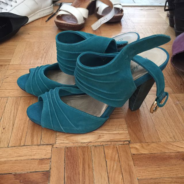 Seychelles Turquoise High Heels
