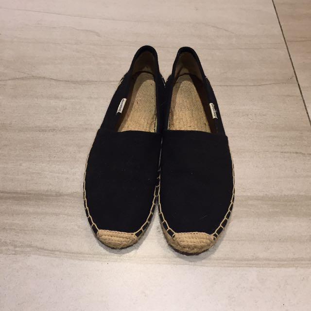 Soludos 黑色 帆布 草編鞋 編織鞋 8號