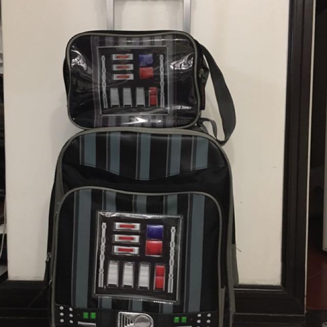 Star Wars (Darth Vader) Stroller School Bag + Lunch bag
