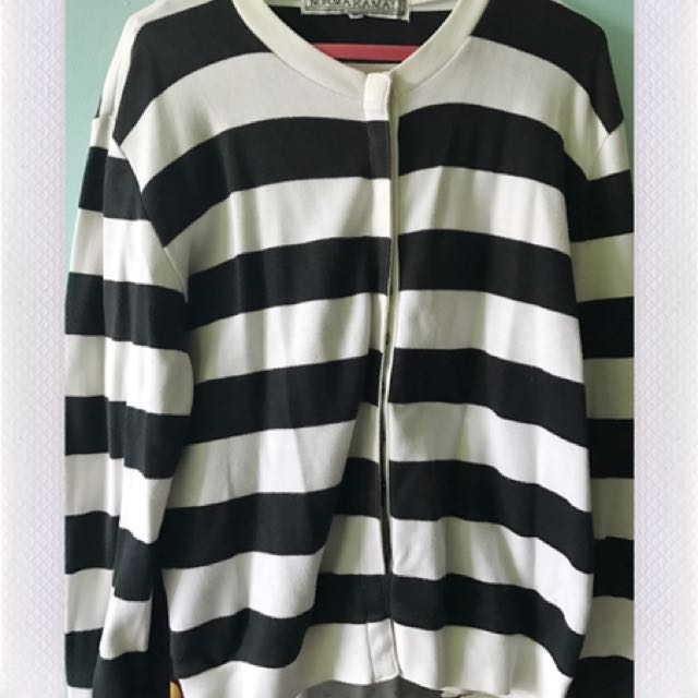 Striped Sweater Black And White