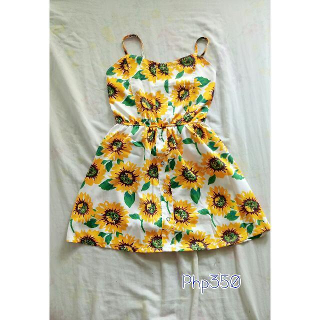 Sunflower Romper Dress