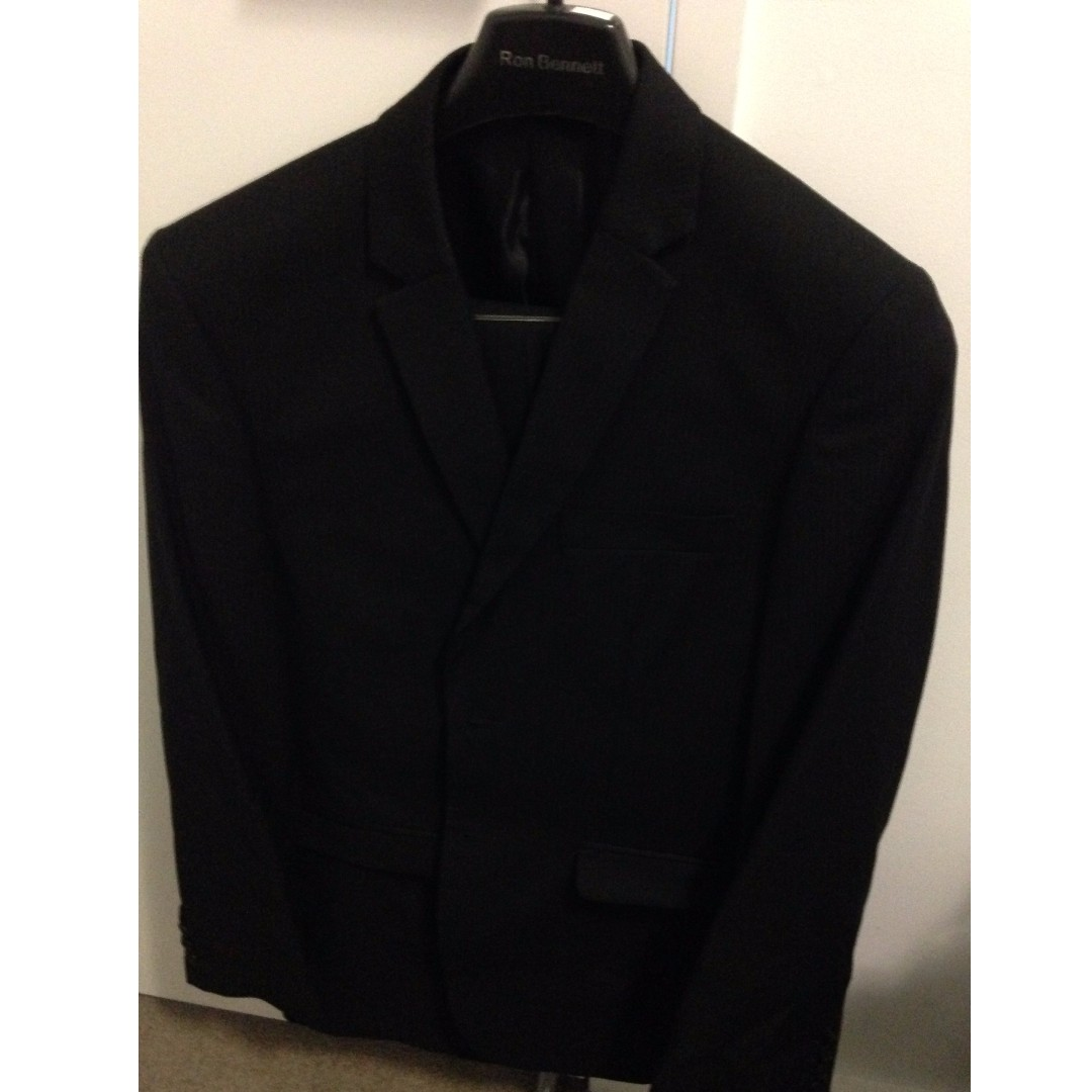 Trench Black Suit (Blazer and Trousers) Size 100
