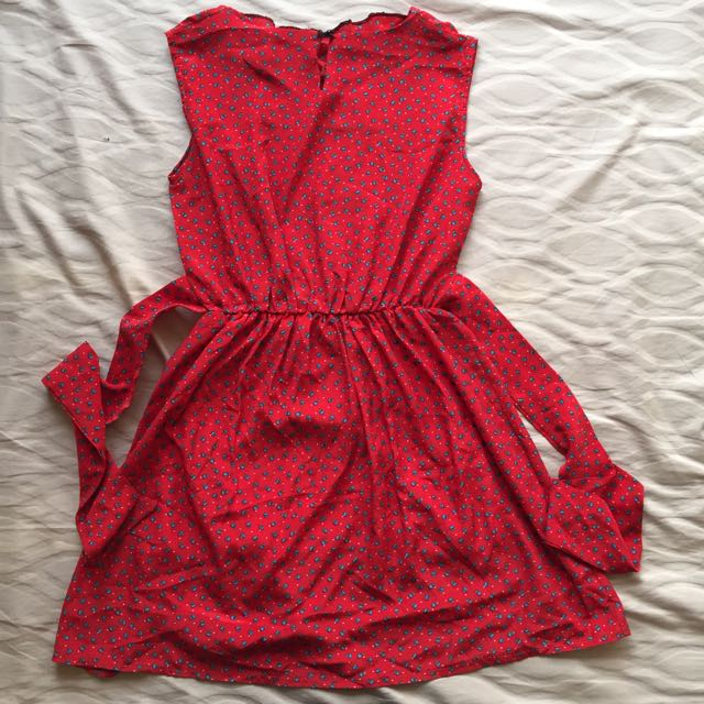 Unbranded Red Ribbon Dress