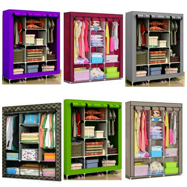Wardrobes Size King Almari Baju Diy New Home Furniture On Carou