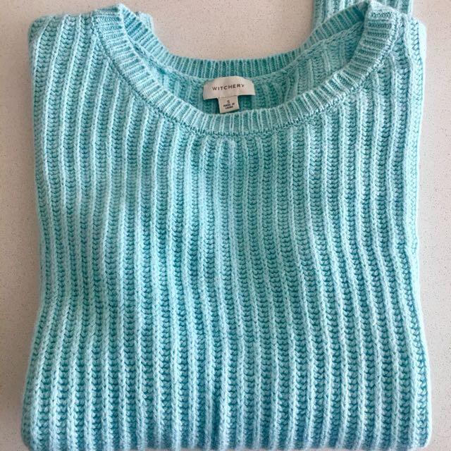 Witchery Women Tiffany Blue Wool Top