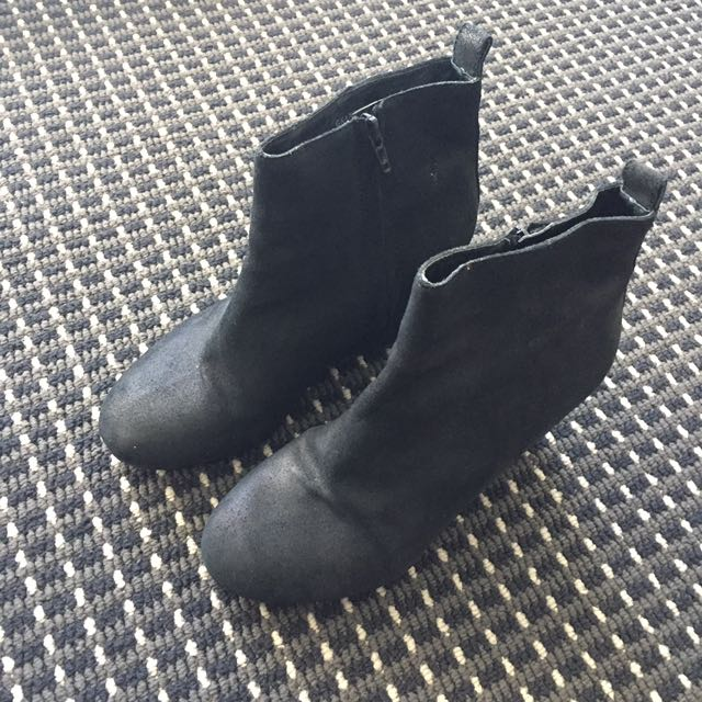 Wittner Leather Wedge Heeled Ankle Boots - AU 7