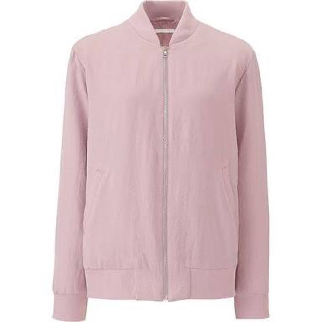 Reprice: Women Pink Soft Bomber jacket