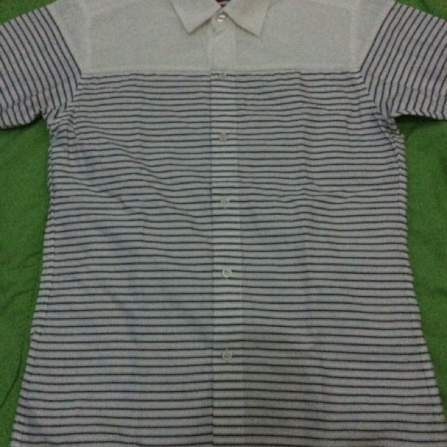 Zanetti Polo (White Striped Medium)