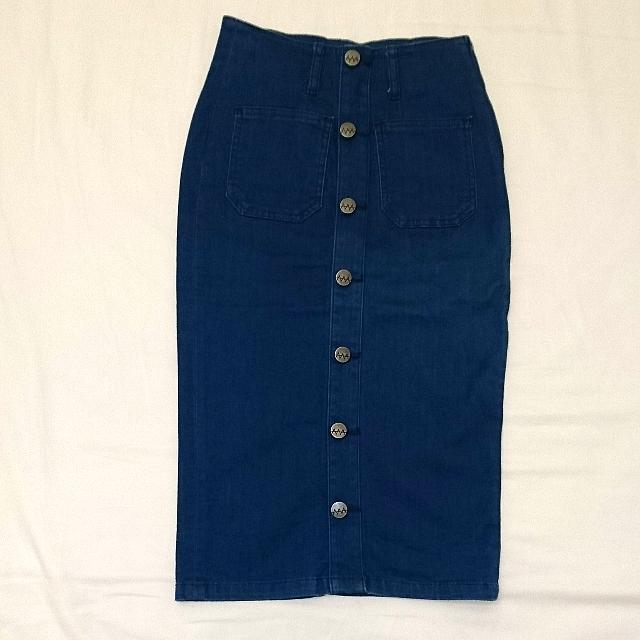 Ziggy Denim High-waisted Slim-fit Midi Jean Skirt