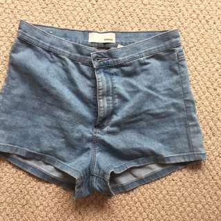 High-Waisted Garage Shorts