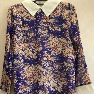 Flowery Purple Top