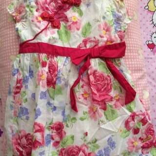 Bloom Dress With Oriental Button