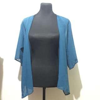 Blue Kimono Cover Up