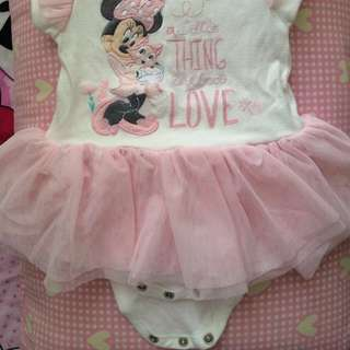 Lovely Minnie Mouse Romper With Tutu Skirt