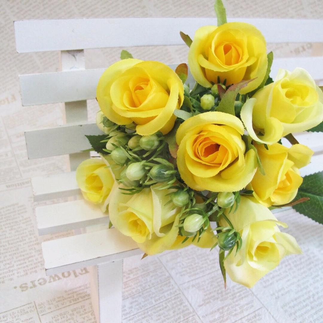 【樂提小舖】01064 繁星玫瑰 7色 人造花 假花 人造玫瑰 婚紗道具 玫瑰花 仿真玫瑰 假玫瑰花 裝飾玫瑰 不凋花