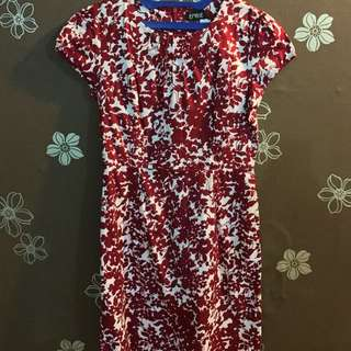 RED FLORAL DRESS EPRISE SIZE S