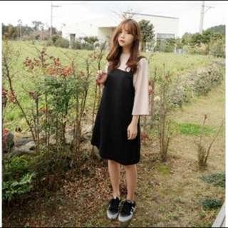 全新黑色吊帶裙XXL