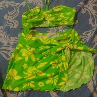 全新 Macarena 馬格利那 四件式 一片裙 泳衣 M號 #我有泳裝要賣