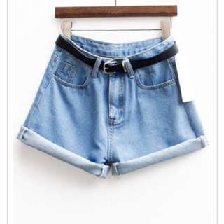 High Waisted Denim Shorts.