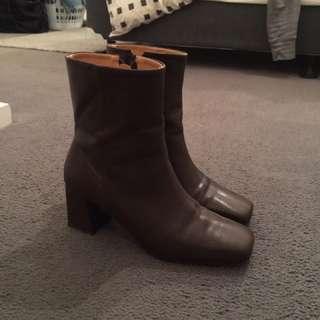Korean Square Head Boots
