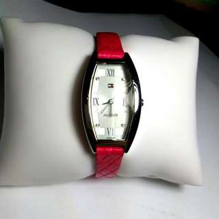 Tommy Hilfiger Watch- Genuine leather and crystal Diamond
