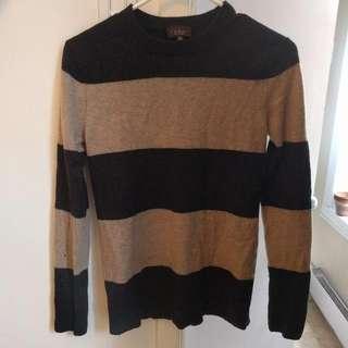 Small striped soft sweater