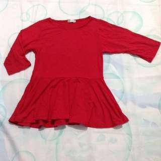 Kaos Merah Lucu
