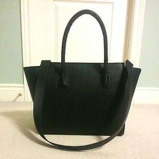 Black Faux Leather Purse