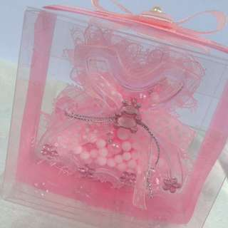 Dress Container With Rosary Souvenir
