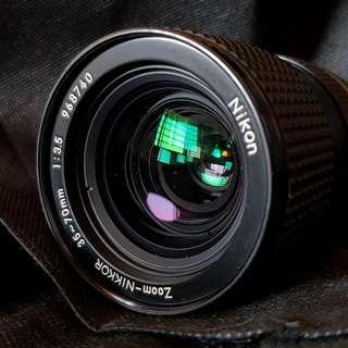 Nikon 35-70mm F3.5 Manual Lens.