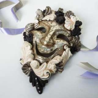 Fiber Glass Classical Drama Mask - Antique Style