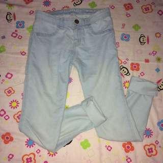 cotton on blue pants(jeggings)