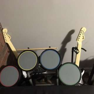 PS3 Rock Band Set With Games