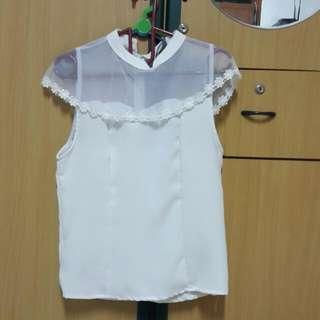 Elegant White Sleeveless Top