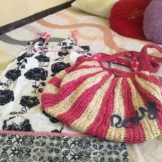 Roxy summer dress and bag bundle