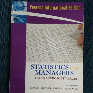 STATISTIC FOR MANAGERS