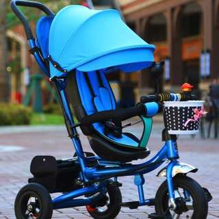 *In-Stock* 3stage Tri-cycle For Baby/ Toddler With shock Absorber  (children , Infant, Toy R Us, Mummy, Outdoor, Bicycle, Stroller, Bike, Car, Home, Kitchen, Bathroom, Parent, Mummy, Gift, Boy, Girl, Tricycle, Toy, Birthday, Promotion )
