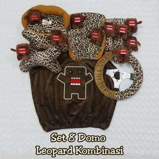 Bantal Mobil set 8 DOMO Leopard Kombinasi