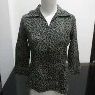 Leopard Blouse Zippy