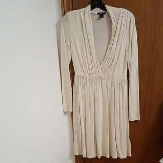 Creme Color Dress