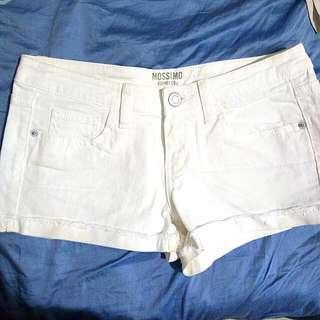 Moschino White Denim Shorts New