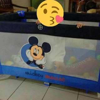 mickey mouse playpen or crib