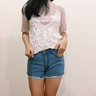 BN Two Pieces Lace Top
