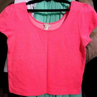 Forever 21 Pink crop Top