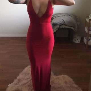 Meshki Red Gown Size Small