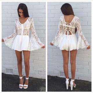 Lace Flare Playsuit