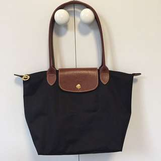 "Genuine Longchamp ""Le Pliage"" Tote bag S (black)"