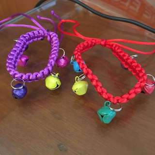 Knit Collar with 5 bell necklace