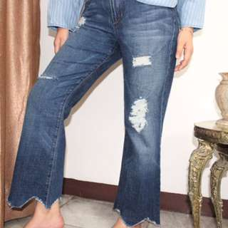 Wavy Ripped Jeans