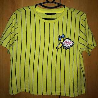 Yellow Crop Top With Patch